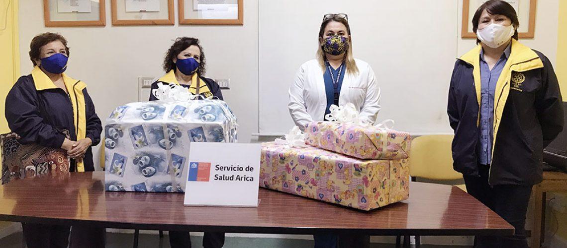 01 donacion damas rotarias hosp arica
